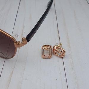 kate spade Freeze Framed Rose Gold Earrings